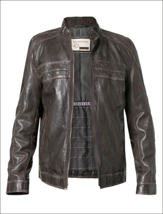 Ανδρικό δερμάτινο μπουφάν  Μοντέλο: ML-944 Δέρμα: nappa vintage Τιμή: 390€