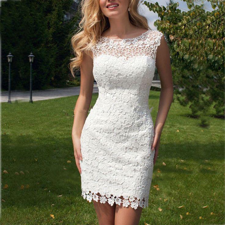 vestidos de noiva 2017 Lace Wedding Dress Backless Detachable Train 2017 Short Wedding Gowns