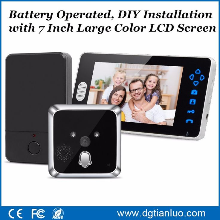 Hot Sales!! Motion Detect Front Door Camera Video Peephole Door Viewer Door Bell Take Photo/Video With IR Night Vision