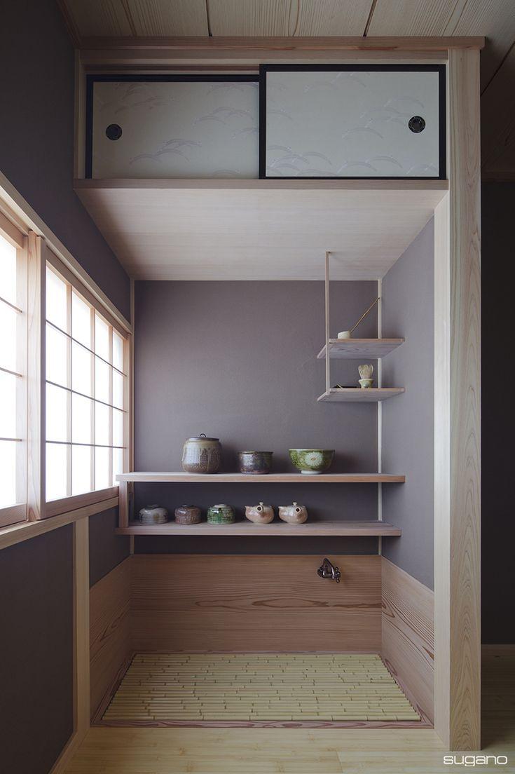 茶室に隣接して水屋を設けました。#和風住宅 #日本建築 #和風建築 #茶室 #水屋 #茶室のある家 #家づくり #新築 #住宅 #茶室新築 #設計事務所 #菅野企画設計