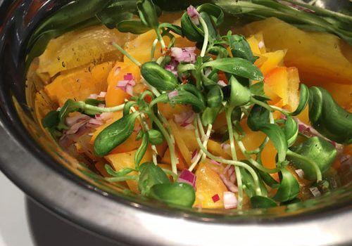 Une délicieuse recette de salade de betteraves par le Chef du Tandem.