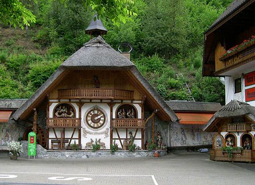 Cuckcoo clock dining hall in the middle of the Black Forest, Germany. The food was amazing.