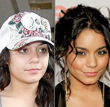 Vanessa Hudgens, with and without makeup and Photoshop