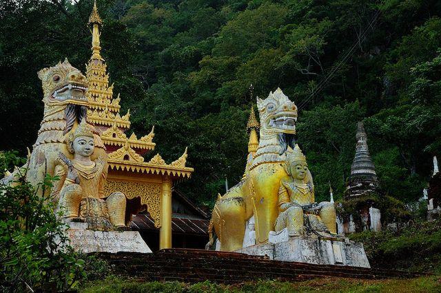 Pindaya Pagoda, Myanmar. #myanmar