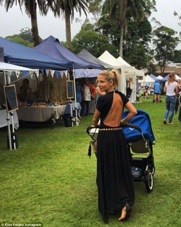 She makes it look so easy! Elsa Pataky took a stroll through local markets near…