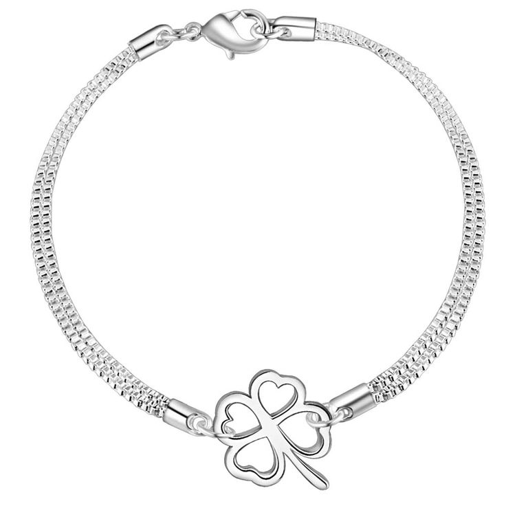 Aliexpress.com : Buy fashion classic lucky flower Wholesale silver plating bracelet, Silver plated fashion jewelry /ABYDCWUJ HIDRLLPM from Reliable jewelry supplies bracelet suppliers on yinfen guo's store