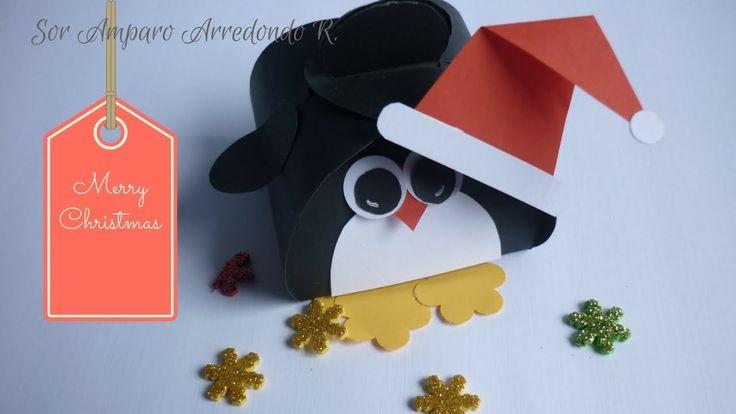Manualidades para Navidad: Como hacer y decorar cajita para regalar en N...