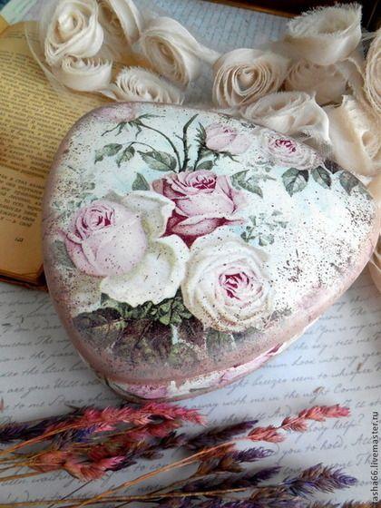 """""""Восхищение розой."""" Шкатулка - кремовый,шкатулка с розами,шкатулка с цветами"""
