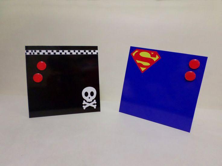 Portarretratos magnético modelos Superman y Calavera  www.facebook.com/malabaresdesign