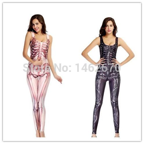 Cheap costumes family, Buy Quality costume tights directly from China costumes oktoberfest Suppliers: 2015 New Sexy skeleton jumpsuits 2 colors female tight leggings halloween costumes ACG319 Please read this size cha