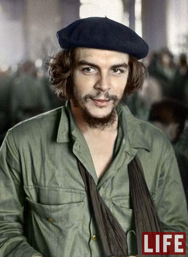 Portrait recolorié Che Gevara 1959 #Photoshop