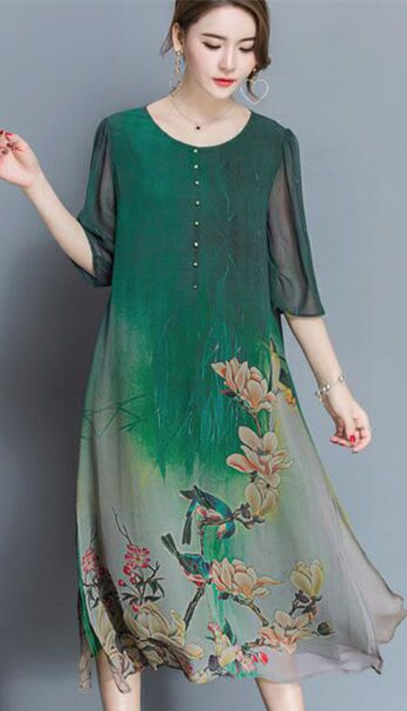 Women's Going out Loose Chinese Style Dress