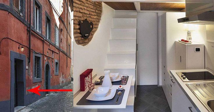"""7 metri quadrati sono davvero pochi per una stanza, anche solo da letto, ma pensare di costruire un'intera casa in uno spazio così angusto può sembrare un pensiero """"folle"""".Marco Pieraz"""
