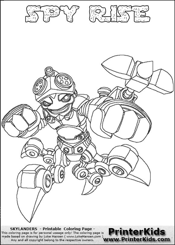 skylanders fryno coloring pages | Skylanders Swap Force - SPY RISE - Coloring Page 5 Editors ...
