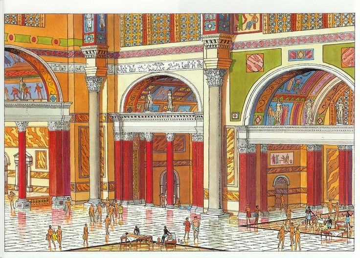 Les Thermes d'Antonin le pieux. Carthage Romaine