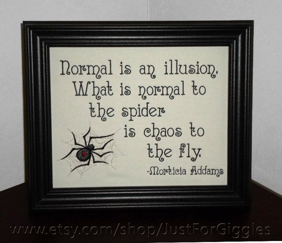 Morticia Addams quote Chaos Wallhanging Framed by JustForGiggles, $30.00 #quotes #sign #spiders #MorticiaAddams