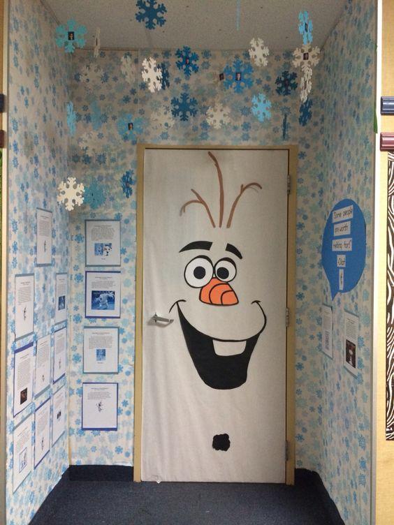 Olaf classroom door, Frozen, door decorating contest, winter, door decoration…