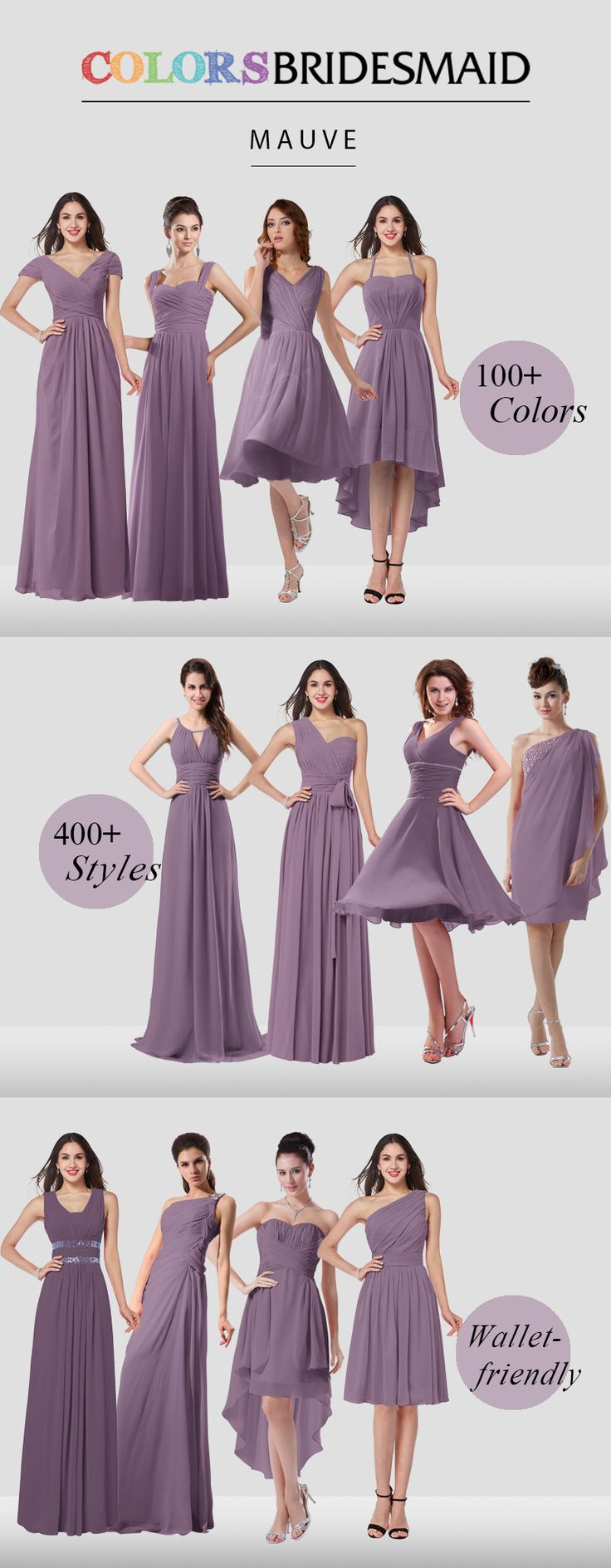 Bridesmaid dresses are all custom made to flatter your figure and their affordable prices never break your bank out!