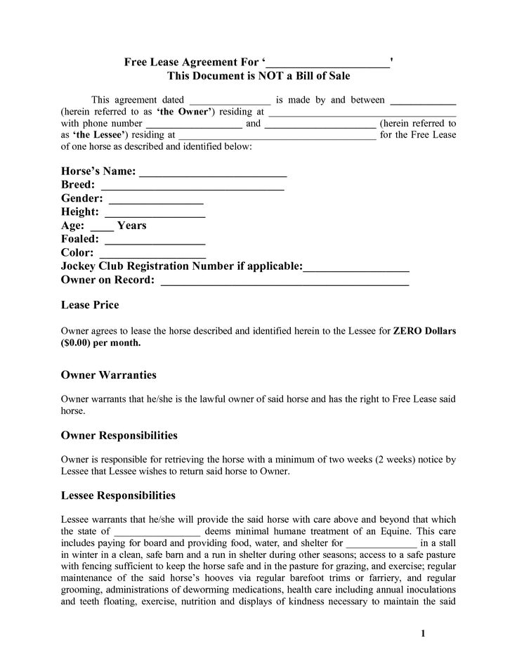 Horse Lease Agreement. Stunning Sample Pasture Lease Agreement