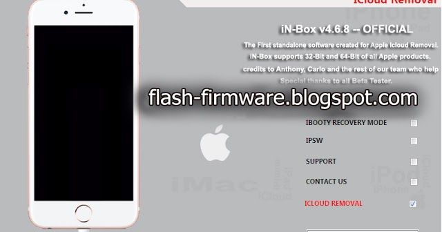 Download iN-Box V4 8 0 Feature: iPhone Icloud Lock Remove Any IOS