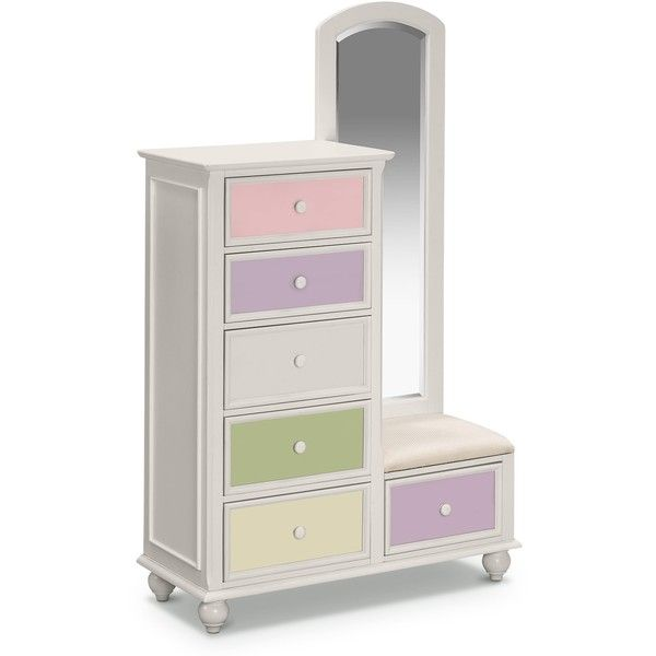 Colorworks White Kids Furniture Tall Chest Mirror Value City