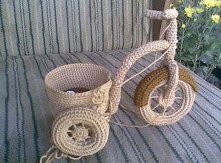 My Crochet - Bicycle Vase ~ Zan Crochet