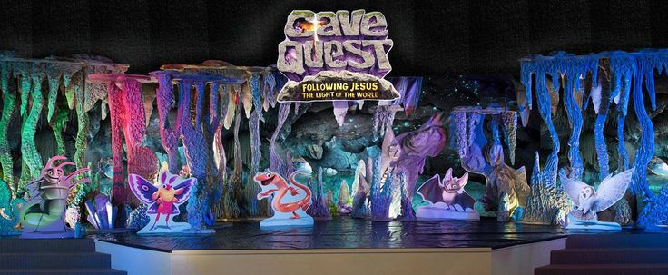 Check out the Cave Quest VBS set! It's full of color and texture and the kids at field test are absolutely in awe of it....your kids are going to love it too!