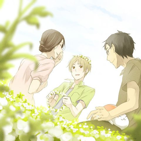 Natsume Yuujinchou ~~ Wonderfully sweet moment for Takashi and his adopted parents.