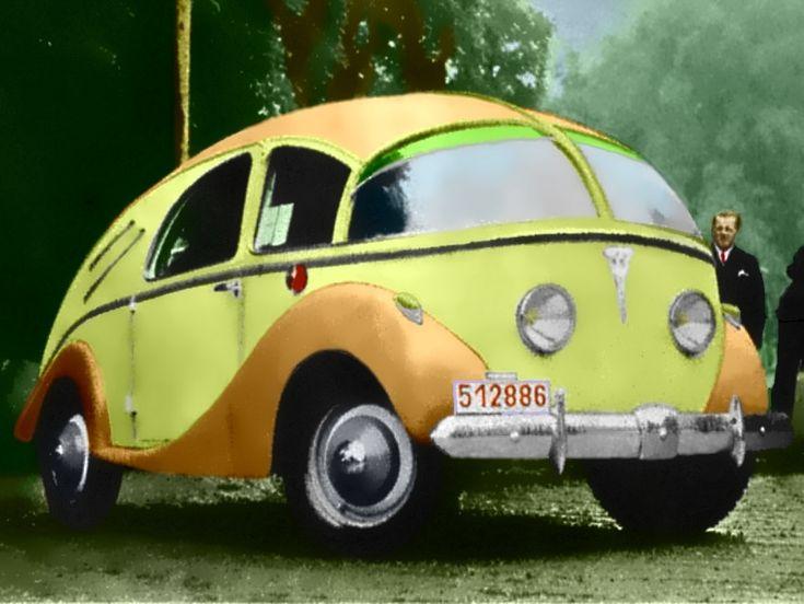 PLM-Wagon 1947, looks like a volkswagon proto-type.....