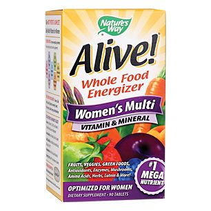 Alive!Womens Multivitamin & Mineral (90 Tablets)  by Natures Way at the Vitamin Shoppe