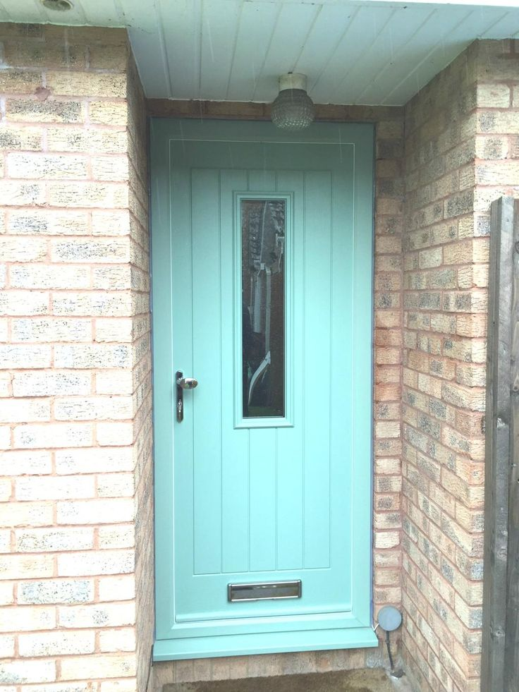 Turquoise Pastel is sure to turn heads! This lovely composite front door was installed by one of our preferred installers. To get a quote & find your nearest, visit: http://endurancedoors.co.uk/authorised-retailers/
