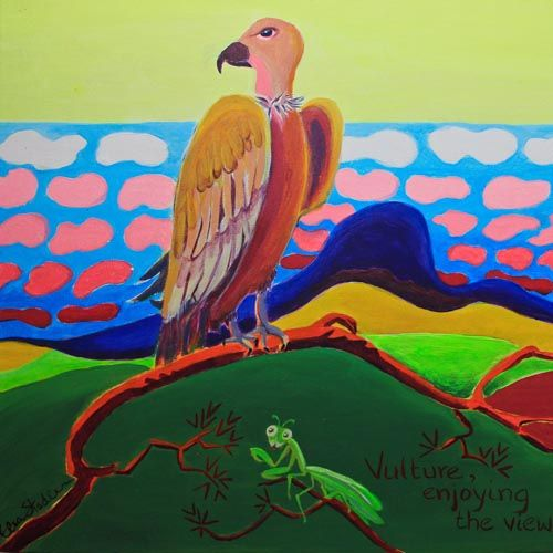 V is for Vulture....'Vulture, enjoying the view'