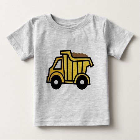 Cartoon Clip Art with a Construction Dump Truck Baby T-Shirt - click to get yours right now!