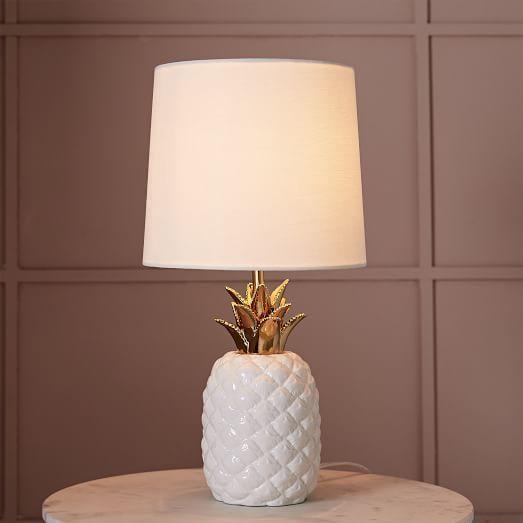 west elm Ceramic Nature Pineapple Table Lamp