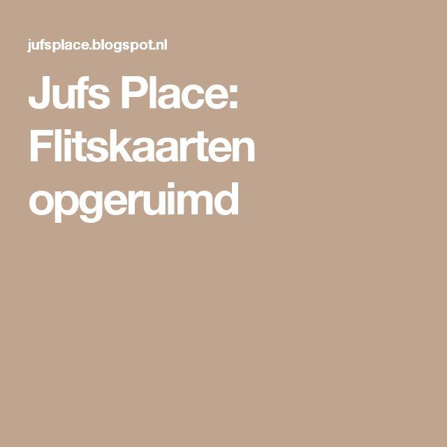 Jufs Place: Flitskaarten opgeruimd