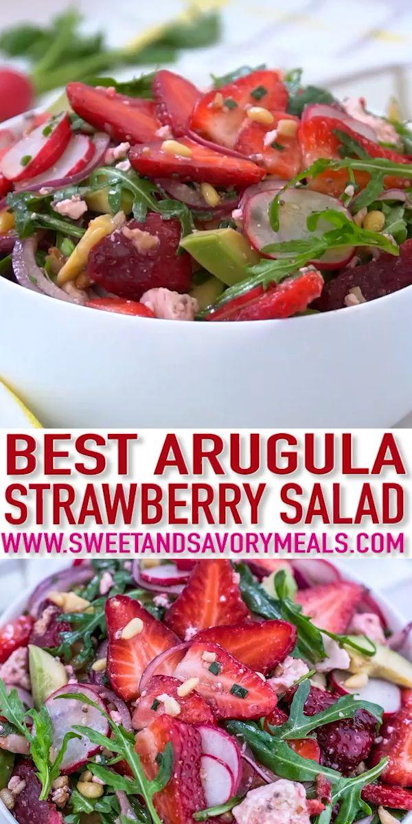 Rucola-Erdbeersalat-Rezept – süße und herzhafte Mahlzeiten