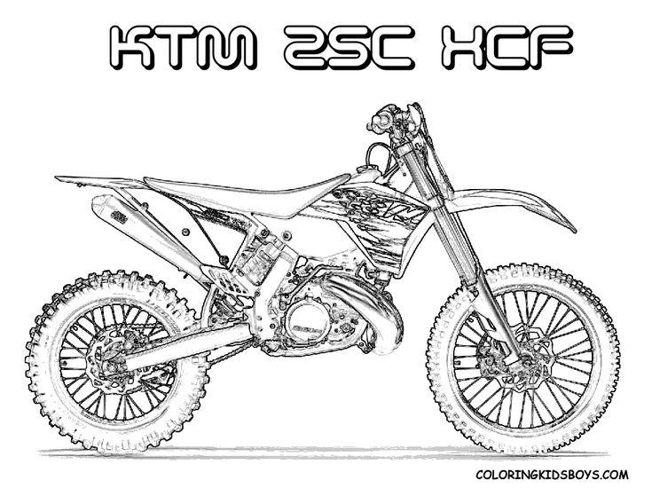 Coloriage Moto Cross Ktm intérieur Dessin De Moto Cross A ...