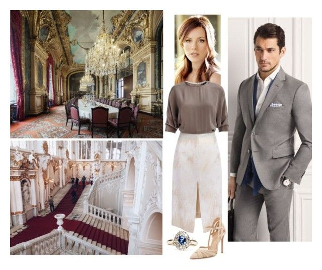 The Queen and Prince Consort attend their grandson Prince Gabriel's first birthday lunch in the Great Hall at Jerusalem Palace. by jumanaofpalestine on Polyvore featuring polyvore fashion style Gianvito Rossi clothing