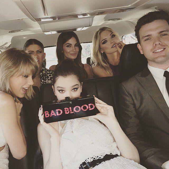 Taylor Swift, Zendaya, Hailee Steinfeld, Lily Aldridge, Martha Hunt, and Austin Swift. Celebrity Instagrams From the Billboard Music Awards 2015 | POPSUGAR Celebrity