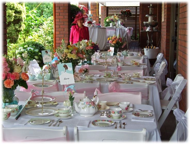 83 best images about english tea party style on pinterest for Afternoon tea decoration ideas