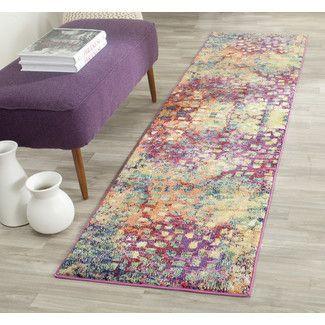 Area Rugs - Color: Blue-Green-Pink-Purple, Rug Shape: Runner | Wayfair
