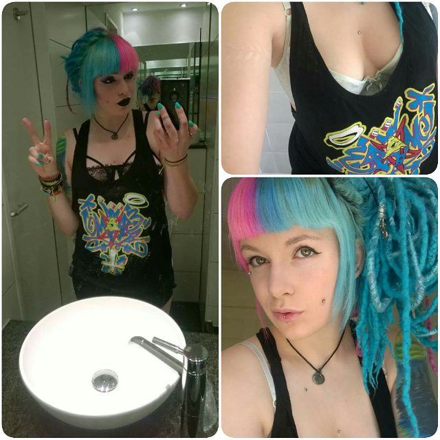 "@cybermaikitten #reppin our ""Penta-Graff"" Women's Vest Down to the last few at www.crmc-clothing.co.uk 