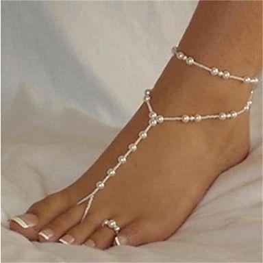 elegante branco pérola descalço sandália * 1 peça de 2015 por €7.58