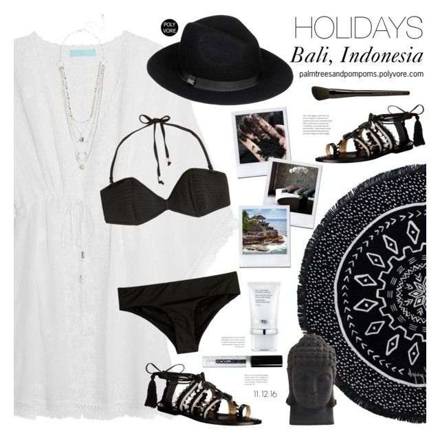 """I'm on Holidays / pls read description"" by palmtreesandpompoms ❤ liked on Polyvore featuring The Beach People, Melissa Odabash, Schutz, Roxy, Zimmermann, La Prairie, Bali, Beauty Is Life, Nearly Natural and Illamasqua"