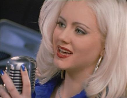cheap 90's fashion: bleached blond, dark nails, red ...