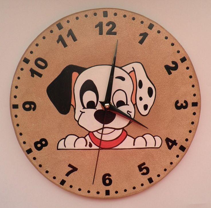 Dalmata falióra, Dalmata kutyás falióra. Dalmatian dog clock