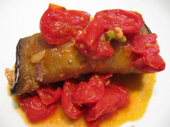 La Tavernetta Sicula: Involtini di Melanzana con pesce spada e pesto