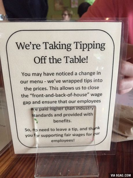 Thai place in Texas pays workers more so we don't have to tip