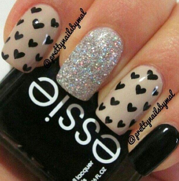 Stars and glitter Nails