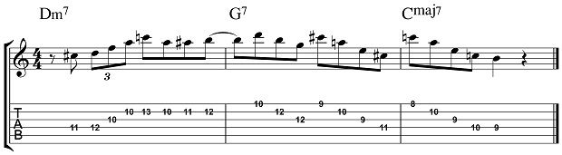 Lydian Dominant Scale Lick 5